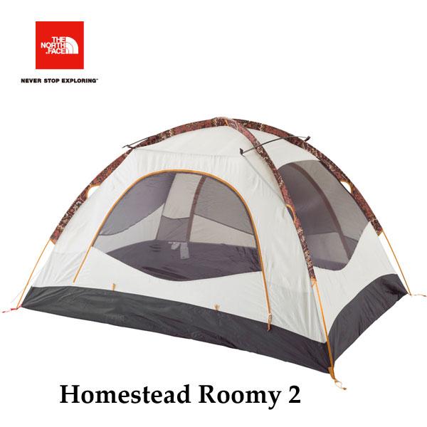 ザ ノースフェイス ホームステッドルーミー2  The North Face Homestead Roomy 2 NV21605 (TS)タンドリースパイスレッドプリント キャンプ テント 2人用