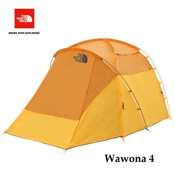 ザ ノースフェイス NV21703 GF ワオナ4  The North Face Wawona 4 ゴールデンオーク×サフランイエロー キャンプ テント 4人用