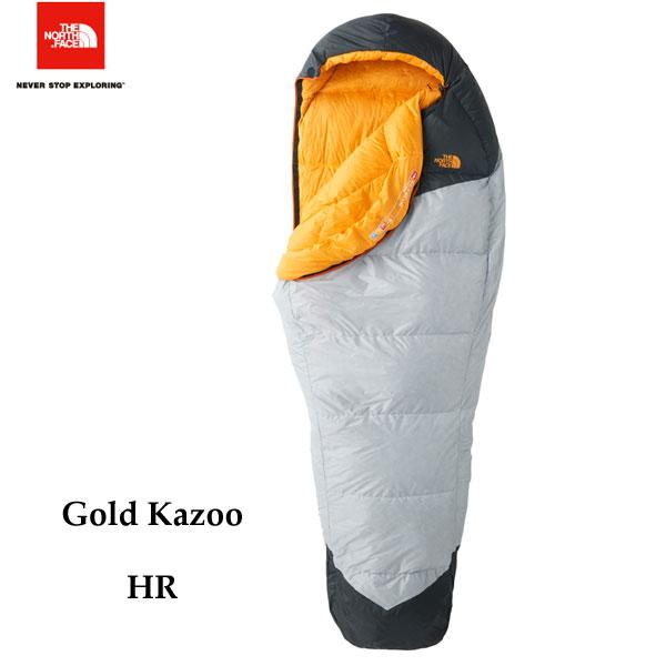 ザ ノースフェイス ゴールドカズー The North Face Gold Kazoo NBR41802 (HR)ハイライズグレー×ラディアントイエロー キャンプ シュラフ 寝袋