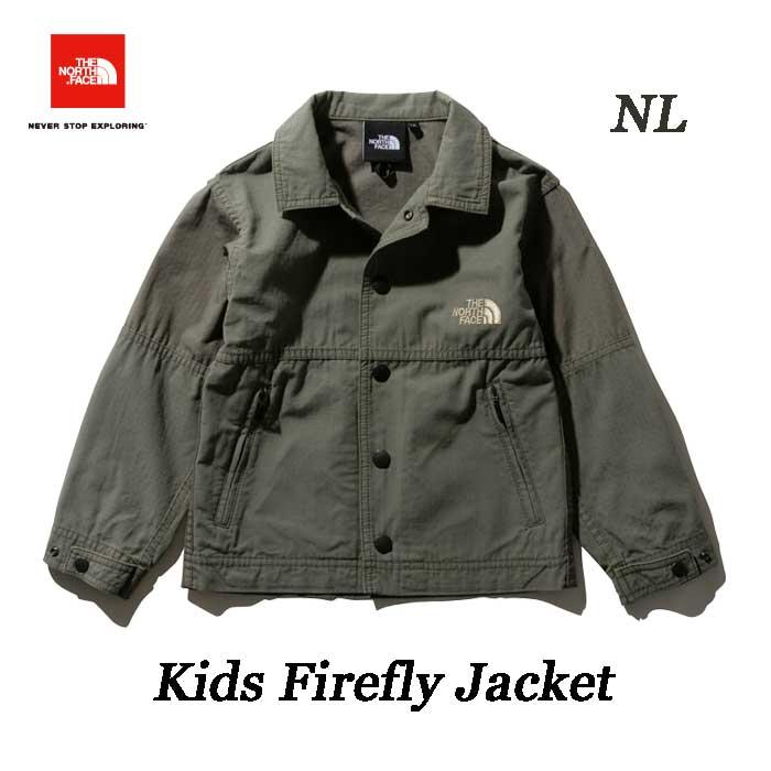 ザ ノースフェイス NPJ21918 (NL) Kids Firefly Jacket  無償修理対象日本正規品 焚き火などのキャンプシーンに適した難燃ジャケット The North Face Kids Firefly Jacket NPJ21918 (NL)ニュートープライトグリーン