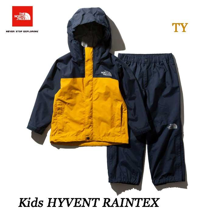 ザ ノースフェイス NPJ11911 (TY) キッズ ハイベントレインテックス  The North Face Kids HYVENT RAINTEX NPJ11911 (TY)TNFイエロー