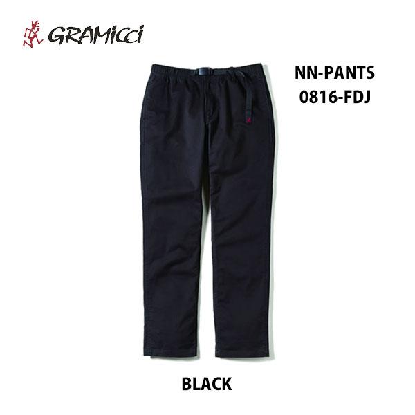 グラミチ あす楽対応 NNパンツ ニューナローパンツ 0816-FDJ ブラック 黒 GRAMICCI NN-PANTS NewNarrow Pants BLACK メンズ ロングパンツ 定番 ガセットクロッチ ウェビングベルト イージーウェスト