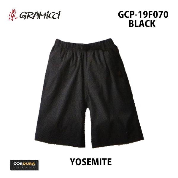 グラミチ あす楽対応 2019年秋冬新作 ヨセミテ GCP-19F070 ブラック GRAMICCI YOSEMITE BLACK メンズ ショートパンツ ショーツ ウェビングベルト イージーウェスト