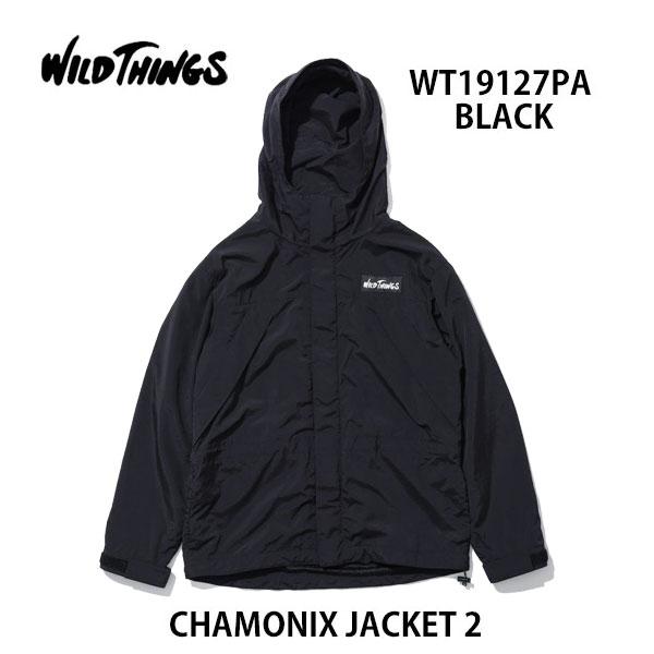 ワイルドシングス あす楽対応 シャモニージャケット2 WT19127PA ブラックWILD THINGS CHAMONIX JACKET 2 BLACK メンズ アウター フード付き