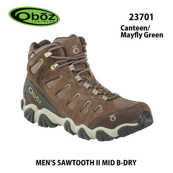 オボズ 23701 キャンティーン/メイフライ グリーン メンズ ソウトゥース II ミッド ビードライ 23701 キャンティーン/メイフライ グリーンOboz MEN'S SAWTOOTH II MID B-DRY Canteen/Mayfly Green靴 トレイルシューズ アウトドア