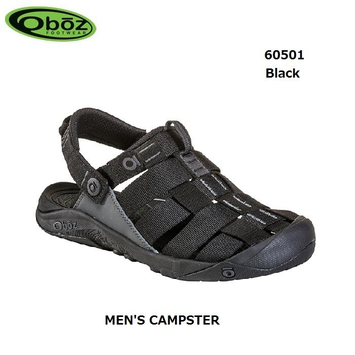 オボズ 60501 ブラック メンズ キャンプスター Oboz MEN'S CAMPSTER Black靴 サンダル アウトドア