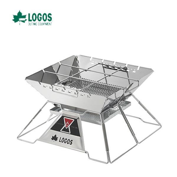 ロゴス 81064161 LOGOS the ピラミッドTAKIBI XL ロゴス キャンプ フェス バーベキュー アウトドア 焚き火台 オプションパーツでカスタム自在! ゴトク付きで料理も楽しめる本格たき火台
