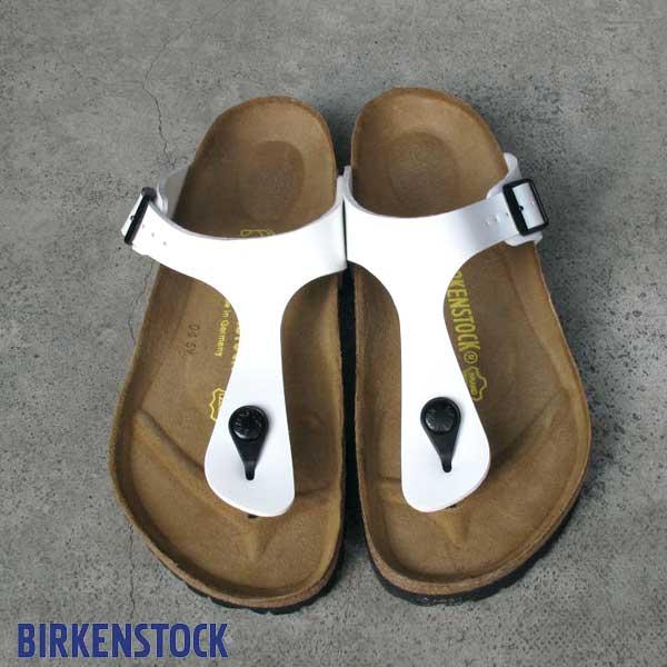 ビルケンシュトック ギゼ ホワイトパテント ホワイト Birkenstock Gizeh WhitePatent White Birko-Flor Patent sandal made in Germany ビルコ フロー パテント コルク サンダル レディース ビルケン  543761 正規輸入品証明書つき