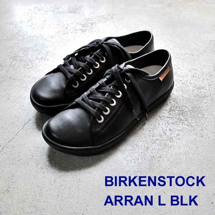 ビルケンシュトック アラン レザー ブラック  Birkenstock Arran BLACK Natural Leather shoes  ナチュラルレザー レディース ウィメンズ スニーカー コンフォートシューズ 455333 正規輸入品証明書つき