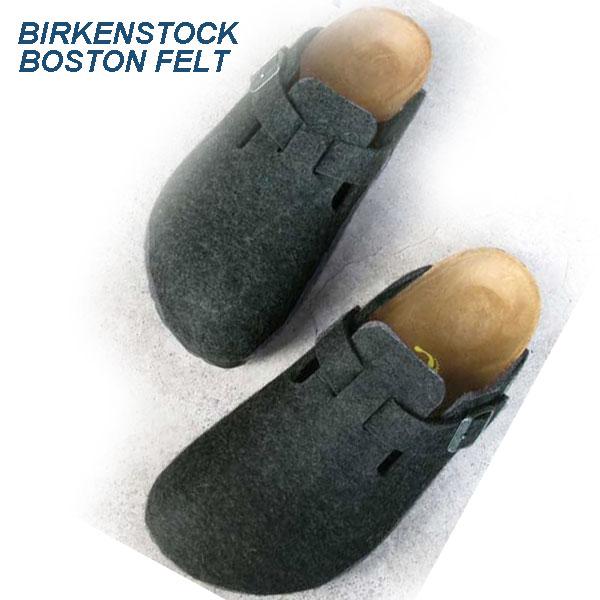 ビルケンシュトック ボストン アンスラジット フェルト Birkenstock Boston Anthracite Felt sandal   レディース クロッグ  160373 正規輸入品証明書つき