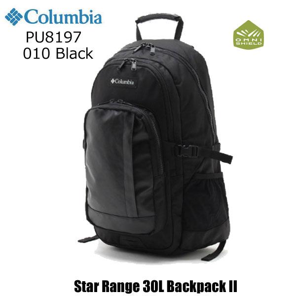 コロンビア PU8197 010 スターレンジ30LバックパックII ブラック Columbia Star Range 30L Backpack II Black リュックサック バックパック 通勤 通学 撥水加工