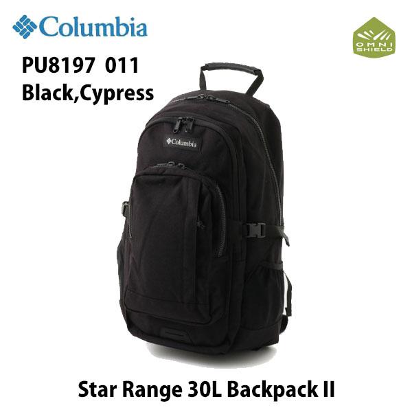 コロンビア PU8197 011 スターレンジ30LバックパックII ブラック、サイプレス Columbia Star Range 30L Backpack II Black,cypress リュックサック バックパック 通勤 通学 撥水加工