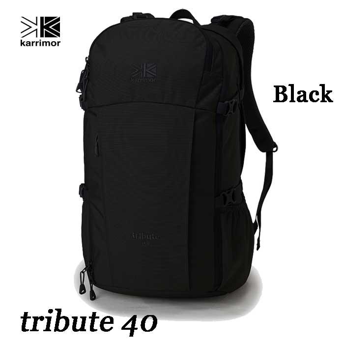 カリマー 4月23日出荷予定 トリビュート 40 ブラック 大型デイパック Karrimor tribute 40 Black 90412