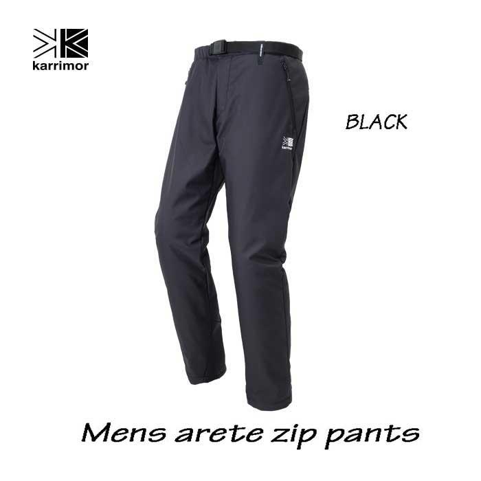 カリマー メンズ アリート ジップ パンツ ブラック Karrimor mens arete zip pants Black