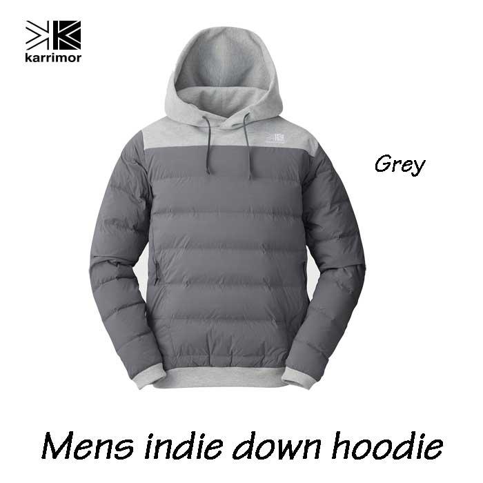 カリマー メンズ インディ ダウン フーディ グレイ Karrimor mens indie down hoodie Grey