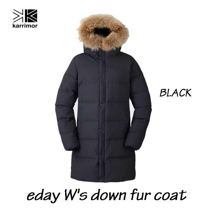 カリマー イーディ ウィメンズ ダウン ファー コート ブラック Karrimor eday W's down fur coat Black