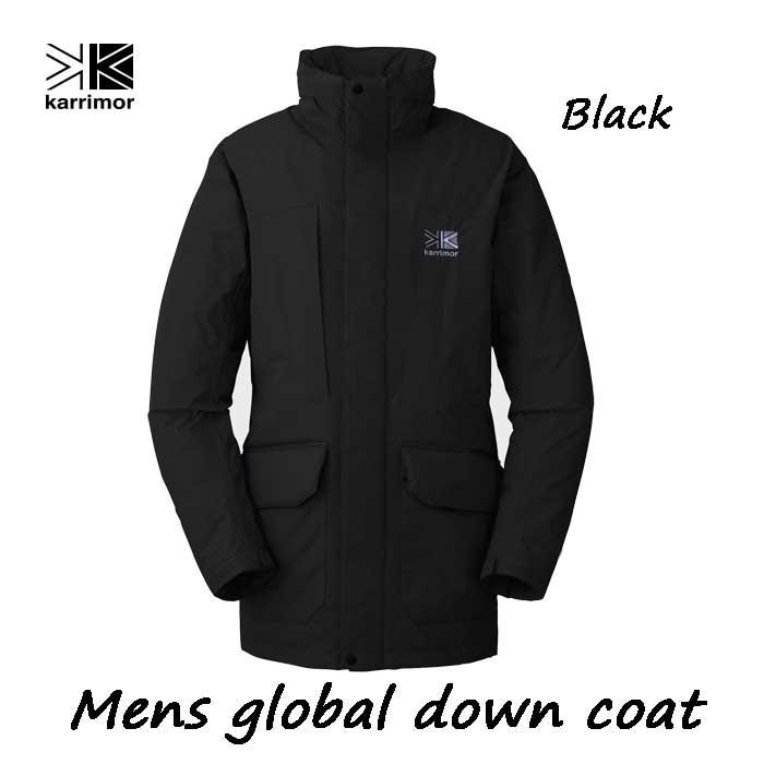 カリマー グローバル ダウン コート ブラック Karrimor mens global down coat Black