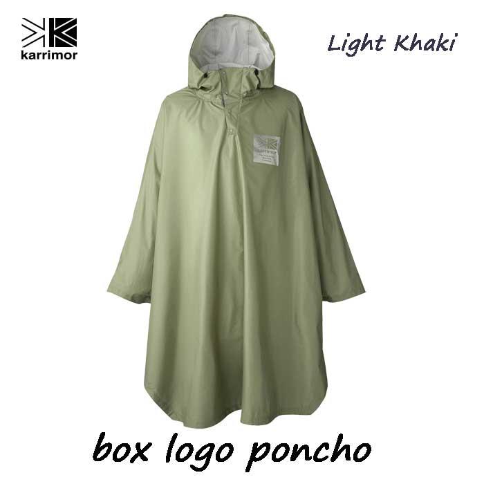 カリマー ボックス ロゴ ポンチョ ライトカーキ- Karrimor box logo poncho Light Khaki