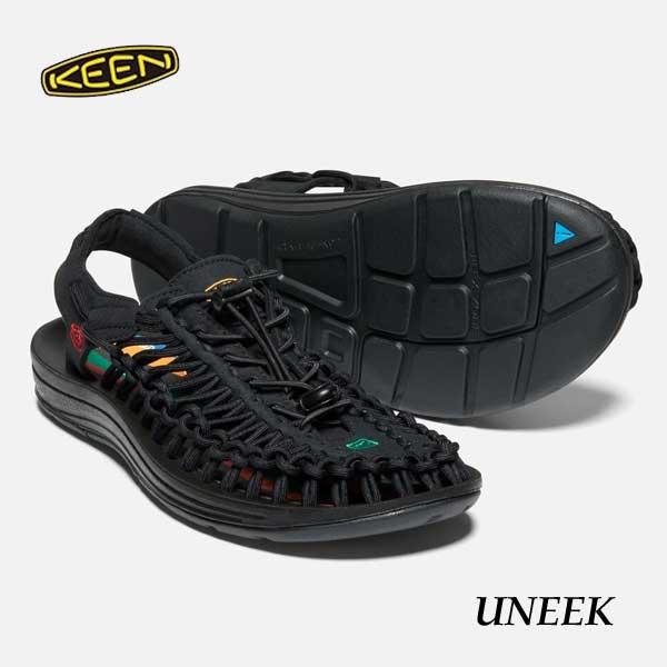 キーン 1023048 メンズ ユニーク サンダル スポーツサンダル Keen Mens UNEEK Multi/Black