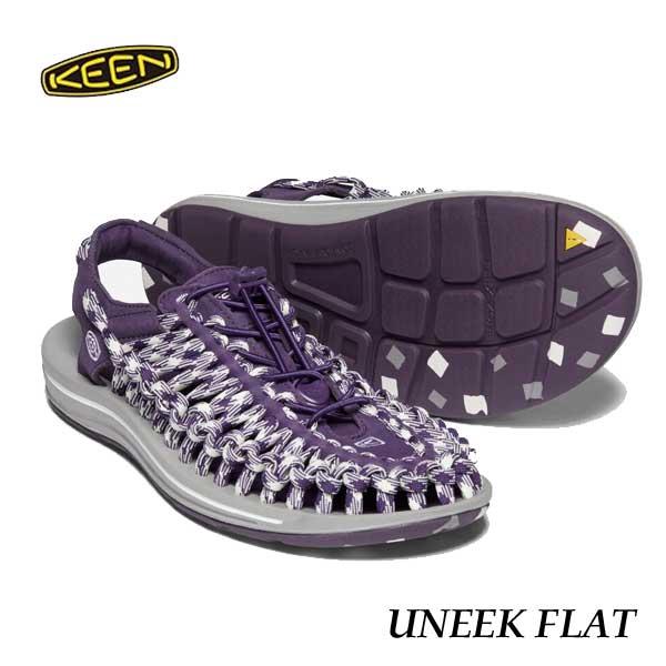 キーン 1023065 メンズ ユニーク フラット スポーツサンダル Keen Mens UNEEK FLAT Edomurasaki