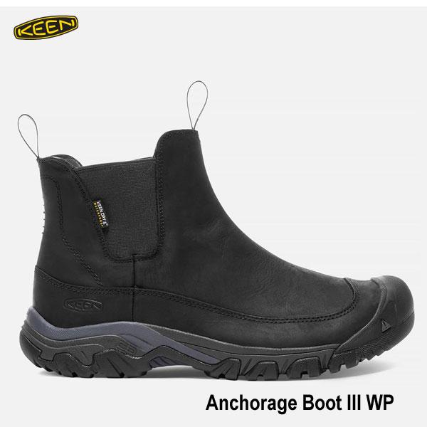 キーン 1017789 メンズ アンカレッジ ブーツ III WP 27 27.5cm 防水 アウトドアーブーツ KEEN MENS Anchorage Boot III WP Black/Raven