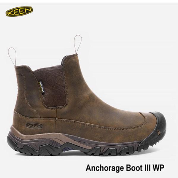 キーン 500円クーポンあり 27.5cm メンズ アンカレッジ ブーツ III WP 防水 アウトドアーブーツ KEEN MENS Anchorage Boot III WP 1017790 Dark Earth/Mulch