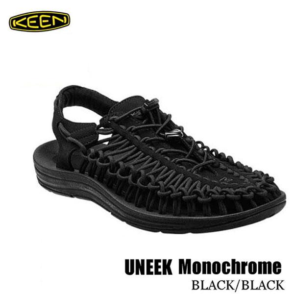 キーン 1014097 メンズ ユニーク スポーツサンダル Keen Mens UNEEK Monochrome BLACK/BLACK
