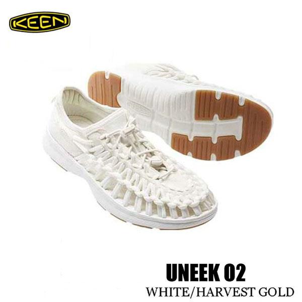 キーン 500円クーポンあり あす楽対応 27.5 28 29cm メンズ ユニーク O2 スポーツサンダル Keen Mens UNEEK O2 1017054 WHITE/HARVEST GOLD