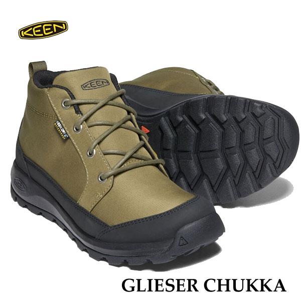 キーン 1021571 あす楽対応 メンズ グリーザー チャッカ ナイロン KEEN MENS GLIESER CHUKKA NYLON 防水ブーツ DARK OLIVE/BLACK
