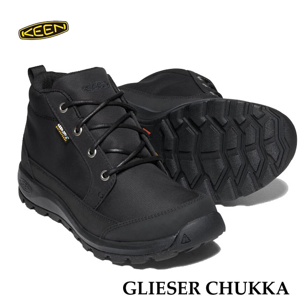 キーン 1021568 あす楽対応 メンズ グリーザー チャッカ ナイロン KEEN MENS GLIESER CHUKKA NYLON 防水ブーツ BLACK/BLACK