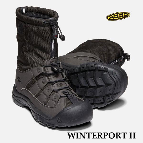 キーン 1019469 あす楽対応 メンズ ウィンターポート II ウィンターブーツ KEEN MENS WINTERPORT II TRUE BLACK