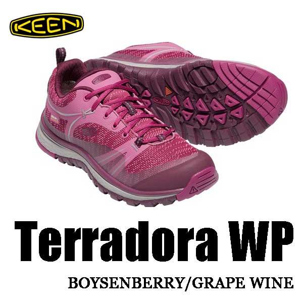 キーン あす楽対応 テラドーラ ウォータープルーフ ウィメンズ レディース アウトドアフィットネスシューズ KEEN WOMENS Terradora WP 1018531 Boysenberry / Grape Wine