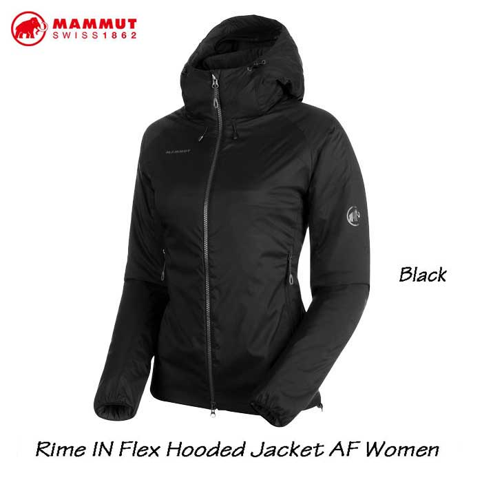 マムート 1013-00760-0001 ライム イン フレックス フーデッド ジャケット AF ウィメンズ Mammut Rime IN Flex Hooded Jacket AF Women black