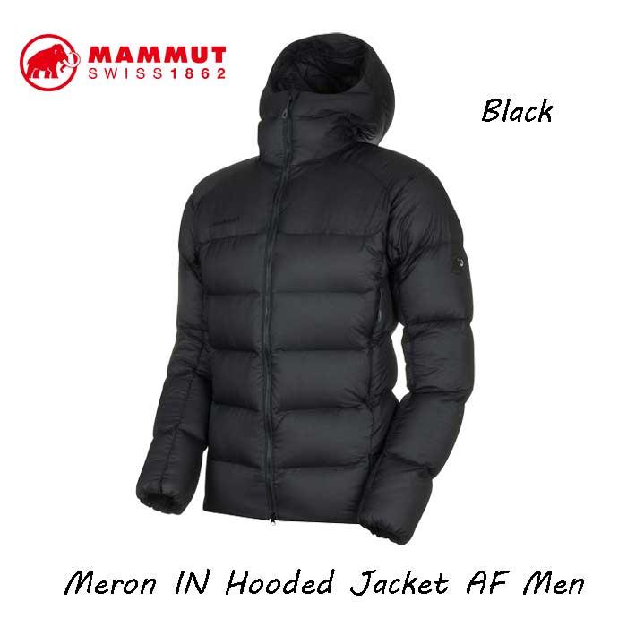 安心の MAMMUT JAPAN正規品です 商店 送料無料 マムート 1013-00740-0052 メロン 付与 イン フーデッド ジャケット ブラック-ブラック Men AF black-black Meron Hooded メンズ Jacket IN