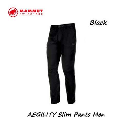 マムート 1022-00270-0001 AEGILITY スリム パンツ メンズ ブラック Mammut AEGILITY Slim Pants Men black