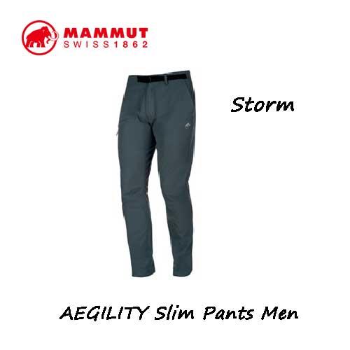 マムート 1022-00270-0239 AEGILITY スリム パンツ メンズ ストーム Mammut AEGILITY Slim Pants Men storm