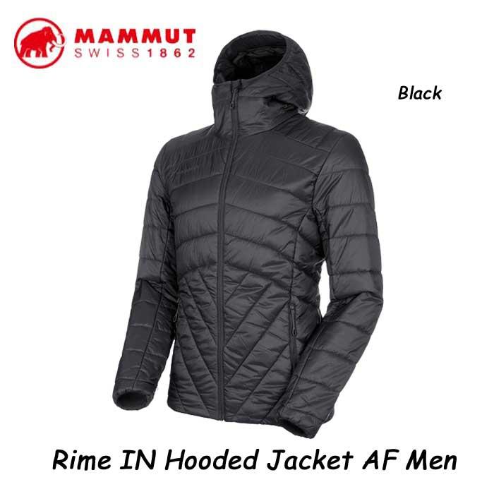 マムート 1013-01210-0001 ライム イン フーデッド ジャケット AF メンズ MAMMUT Rime IN Hooded Jacket AF Men Black