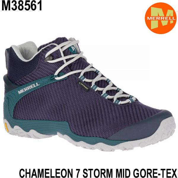 メレル カメレオン 7 ストームミッドゴアテックス M38561 NAVY/TEAL Merrell CHAMELEON 7 STORM MID GORE-TEX メンズ アウトドア ゴアテックス スニーカー