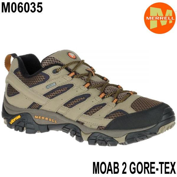 メレル M06035 モアブ 2 ゴアテックス Merrell MOAB 2 GORE-TEX Walnut メンズ アウトドア ゴアテックス スニーカー 防水 幅2E相当