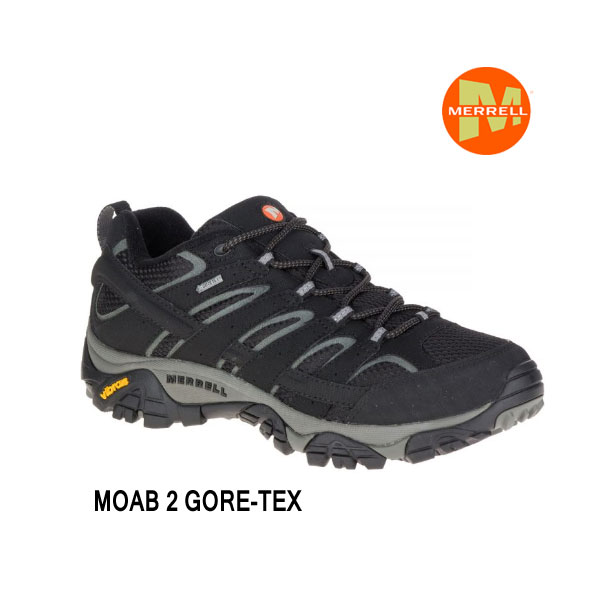 メレル M06037 モアブ 2 ゴアテックス ブラック Merrell MOAB 2 GORE-TEX Black メンズ アウトドア ゴアテックス スニーカー 防水 幅2E相当