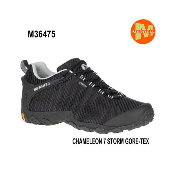 メレル カメレオン 7 ストームゴアテックス M36475 BLACK/BLACK Merrell CHAMELEON 7 STORM GORE-TEX メンズ アウトドア ゴアテックス スニーカー