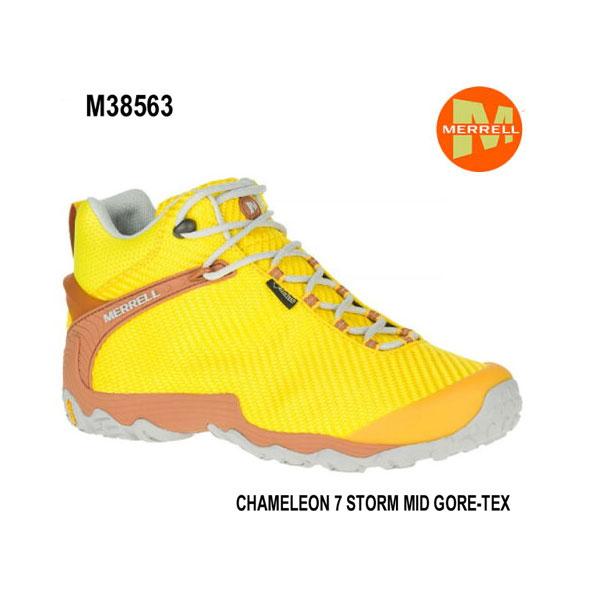 メレル M38563 カメレオン 7 ストームミッドゴアテックス Merrell CHAMELEON 7 STORM MID GORE-TEX DANDELION メンズ アウトドア ゴアテックス スニーカー 幅2E相当