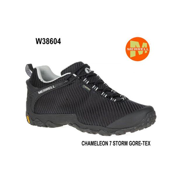 メレル カメレオン 7 ストームゴアテックス W38604 BLACK/BLACK Merrell CHAMELEON 7 STORM GORE-TEX レディース アウトドア ゴアテックス スニーカー