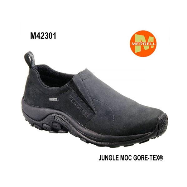 メレル M42301 ジャングルモック ゴアテックス メンズ BLACK Merrell Jungle Moc GORE-TEX Mens メンズ アウトドア スニーカー 幅2E相当