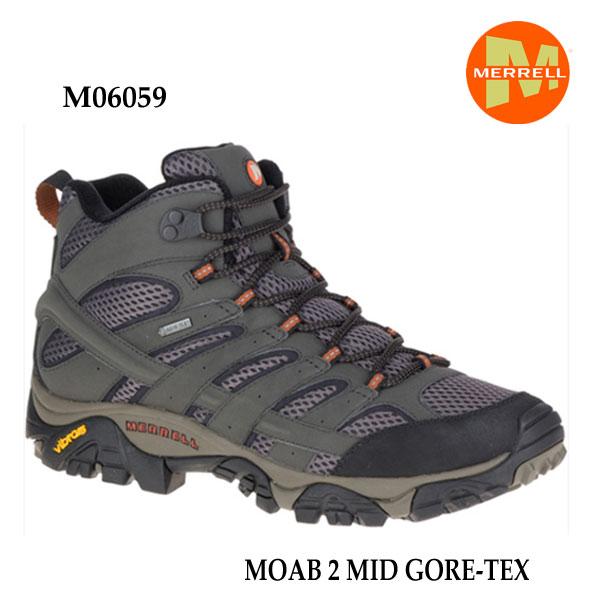 メレル モアブ 2 ミッド ゴアテックス M06059 BELUGA Merrell MOAB 2 MID GORE-TEX メンズ アウトドア ゴアテックス スニーカー 防水 幅2E相当