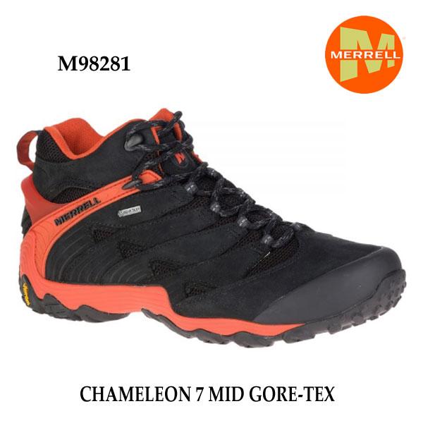 メレル M98281 カメレオン 7 ミッド ゴアテックス Merrell CHAMELEON 7 MID GORE-TEX FIRE メンズ アウトドア ゴアテックス スニーカー 幅2E相当