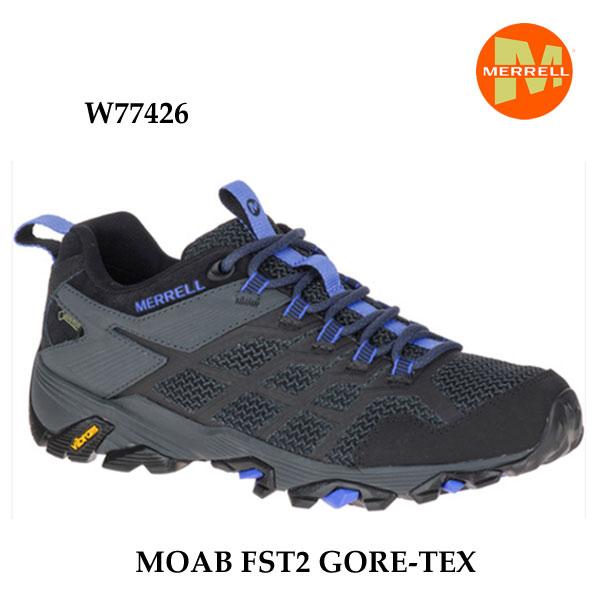 メレル モアブ エフエスティ2 ゴアテックス W77426 BLACK/GRANITE Merrell MOAB FST2 GORE-TEX ウィメンズ アウトドア スニーカー