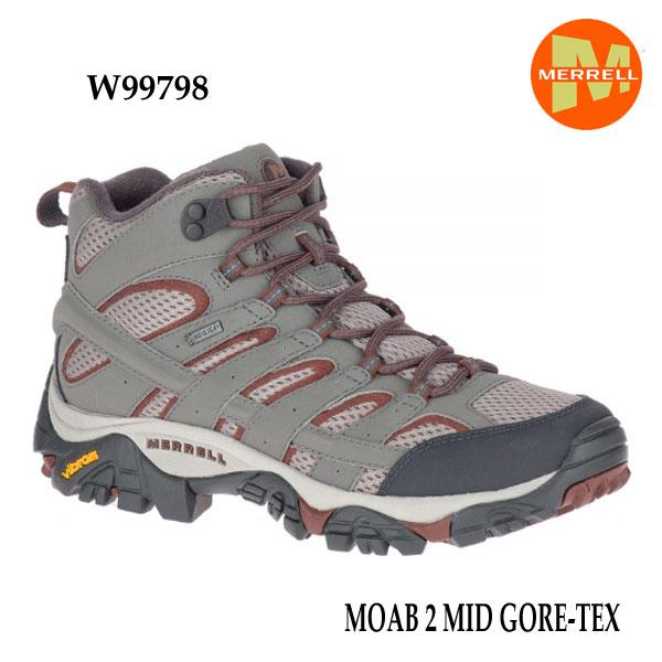 メレル W99798 モアブ 2 ミッド ゴアテックス Merrell MOAB 2 MID GORE-TEX CHARCOAL レディース ウィメンズ アウトドア ゴアテックス スニーカー 防水 幅2E相当