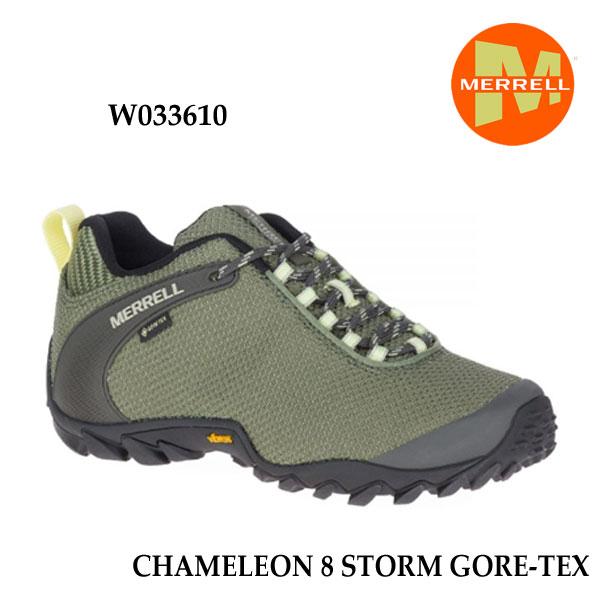 メレル W033610 ウィメンズ カメレオン 8 ストーム ゴアテックス Merrell CHAMELEON 8 STORM GORE-TEX LICHEN レディース アウトドア ゴアテックス スニーカー 幅2E相当