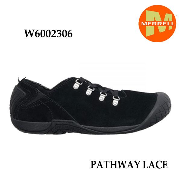 メレル W6002306 ウィメンズ パスウェイレース ブラック  Merrell PATHWAY LACE Women's BLACK レディース アウトドア シューズ 幅2E相当 新色